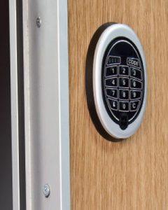 bloque electronico puerta de seguridad